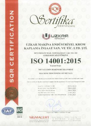 İso 14001 Çevre Yönetim Sistemi